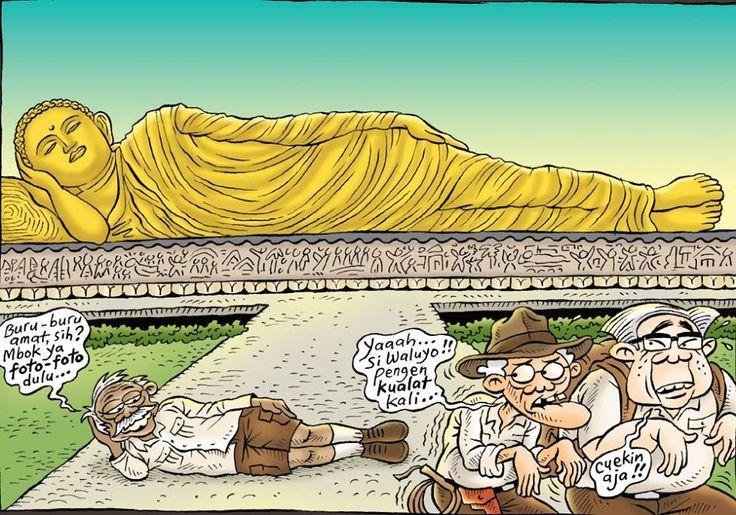 Kartun Benny, Tiga Manula Jalan-jalan Keliling Jawa: Trowulan Mojokerto