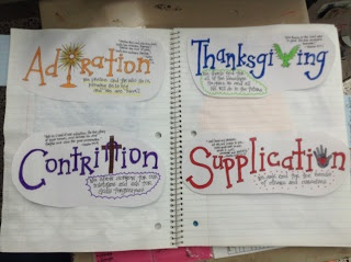 Praying an ACTS Holy Hour Notebooking Activity