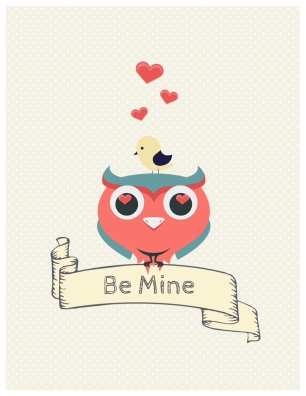Fully editable Valentines Day Card Createer #love #card #heart #valentine's day #feelings #greeting #lovers #owl #bird