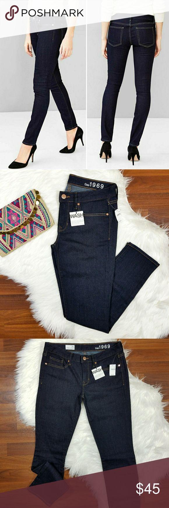 "Gap // Always Skinny Jeans in Rinse Brand new with all original tags!  GAP Always Skinny Jeans Size 26 Short Wash: Rinse  Premium stretch denim Dark blue with contrast topstitching Button closure, zip fly Five-pocket styling  Inseam: 27.5"" Rise: 7.75"" Waist: 14.5"" flat across  Hip: 17.75"" flat across  98% Cotton, 2% Spandex GAP Jeans Skinny"