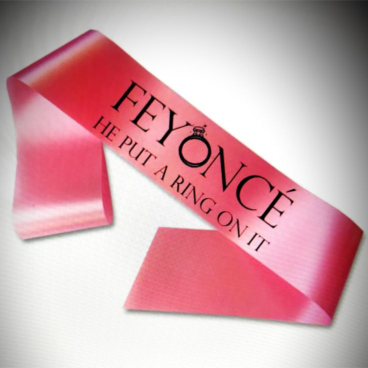A great hen party sash for any Bride to be who loves Beyonce! #hensash #henparty #beyonce