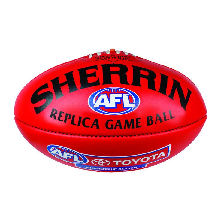 Sherrin replica red game ball