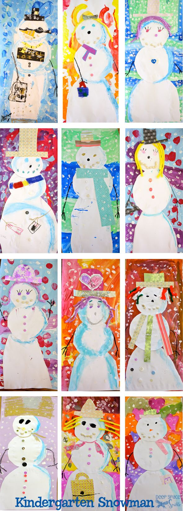 Snowman art project from DSS