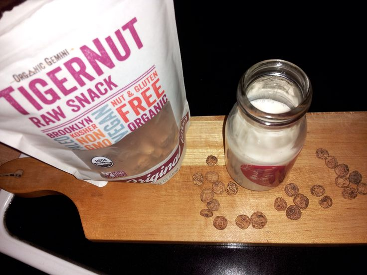 Look how #creamy tiger nut milk is !