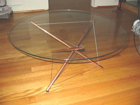 Do It Yourself - Copper Tensegrity Table