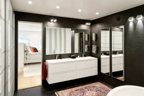 1000 ideen zu dunkle badezimmer auf pinterest badezimmer einrichtung moderne badezimmer und - Kalk an fliesen entfernen ...
