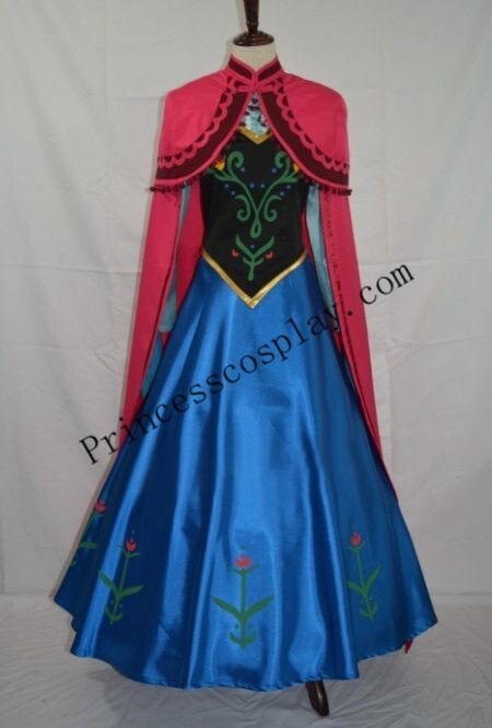 Frozen Princess Anna Costume Full Cosplay Outfit