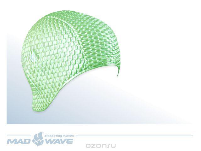 """Купить Шапочка для плавания MadWave """"Bubble"""", женская, цвет: зеленый в интернет-магазине OZON.ru"""