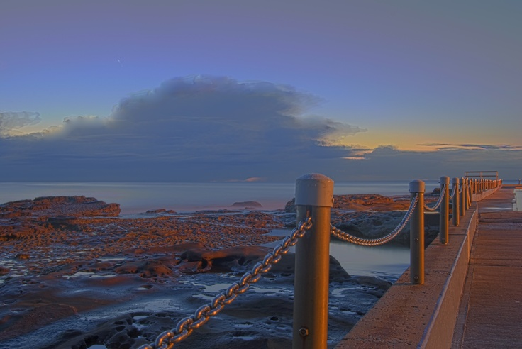 Great photo of Dee Why pool before sunrise.  Taken by @timmy8ken