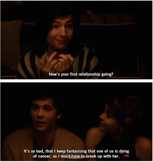 Perks of being a Wallflower...this made me laugh out loud.dont even mind it wasnt in the book