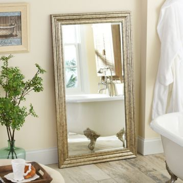 Antique Silver Frame Mirror, 32x56 | Kirklands