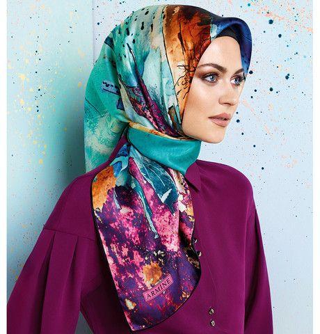 Armine Silk Hijab Scarf Spring Summer 2015 #6417 – Modefa USA