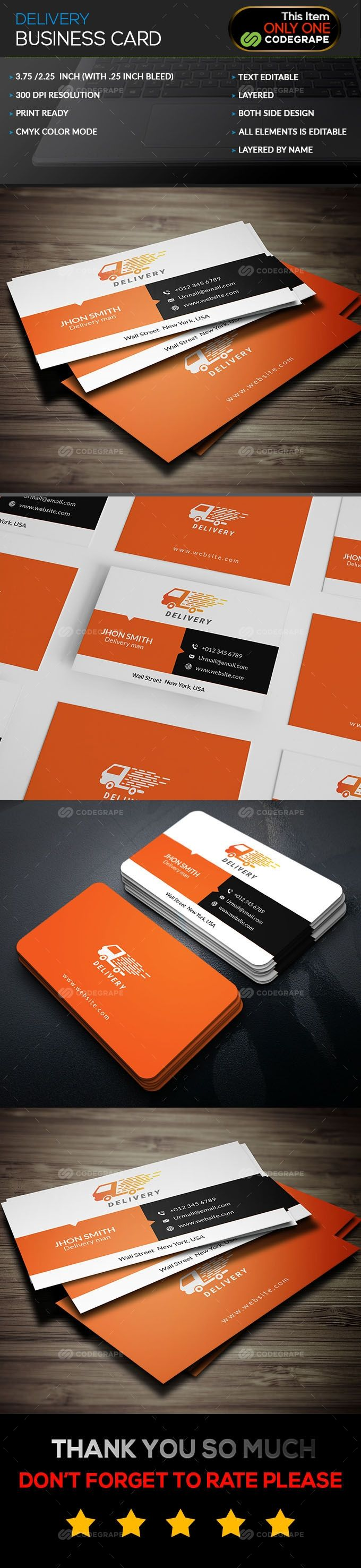 Delivery Business Card Business Cards Corporate Business Card Cards