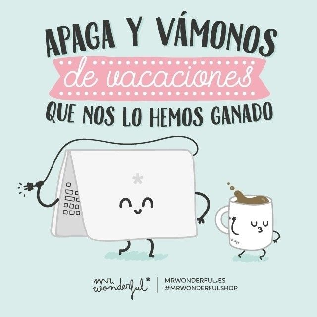 ¡Apaga y Santas Pascuas! Que hoy en Barcelona empezamos las vacaciones. #mrwonderfulshop Vacation time starts today in Barcelona. Lights out, let's go!