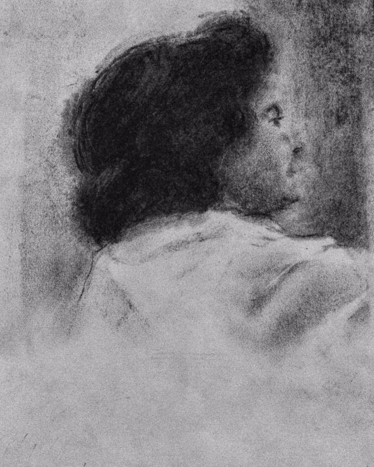 A Carmen Laffón y al río Guadalquivir. Carbón sobre papel 30x20 cm. 2016