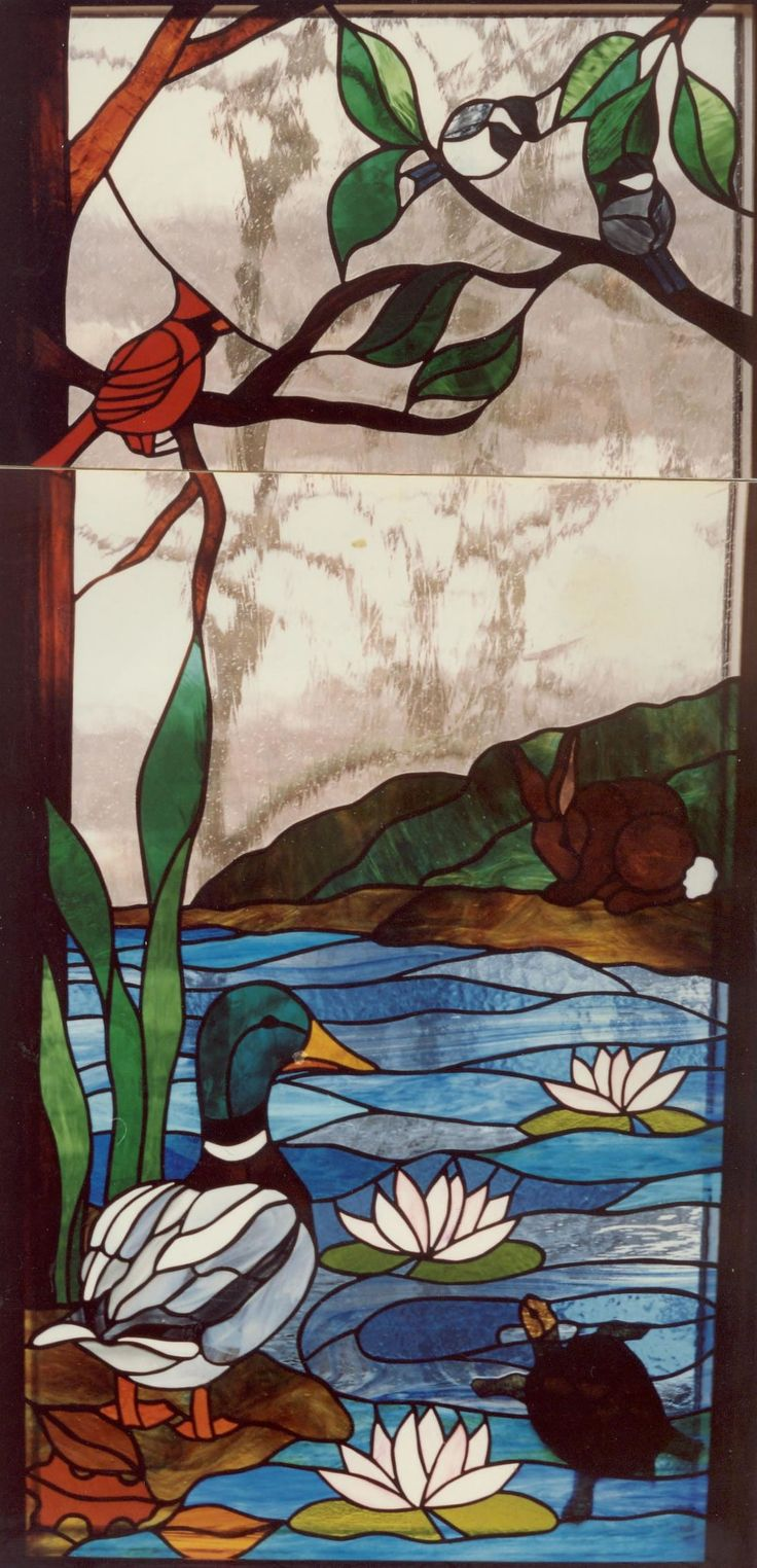 faux stained glass fish | Glass as Art Architectural Glass Stained Glass Faux Painting and ...