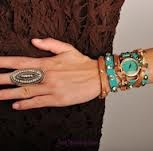 Turquoise & a wrap = beautiful stack