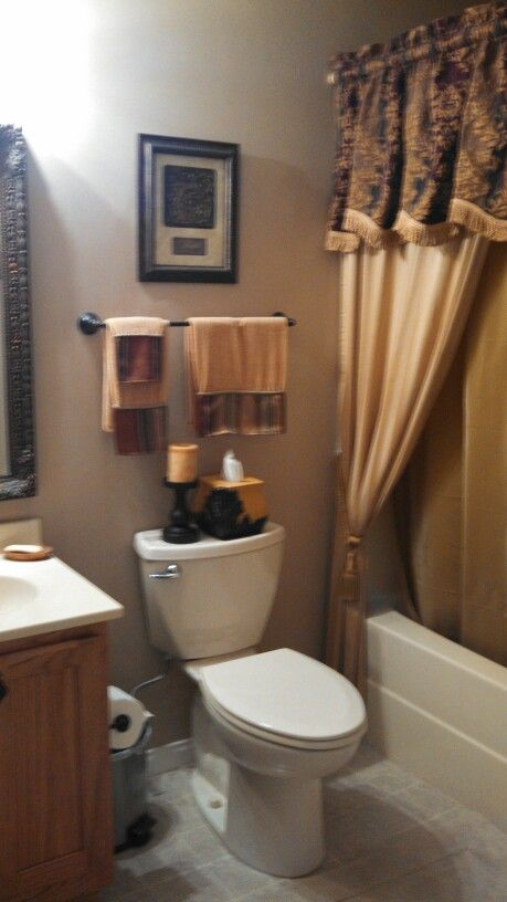 Decorating Small Spaces: Tuscan Bathroom, Tuscan Bathroom