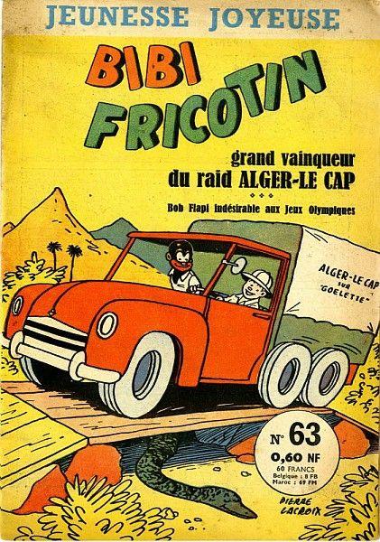 Pierre Lacroix (dessin), Bibi Fricotin grand vainqueur du raid Alger- Le Cap, n°63,1960 / Collections du Musée du Vivant - AgroParisTech