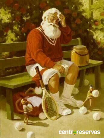 Tiempo de descanso... #navidad #tenis #deporte #sport http://www.centroreservas.com/