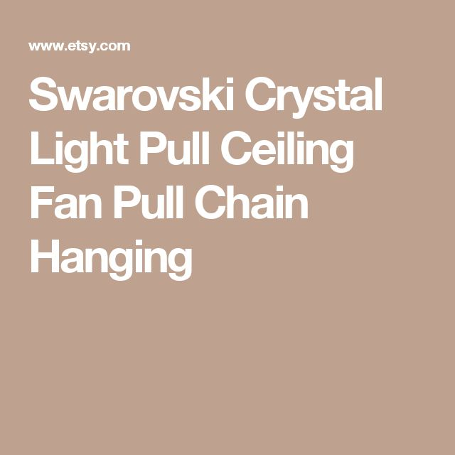Swarovski Crystal Light Pull Ceiling Fan Pull Chain Hanging