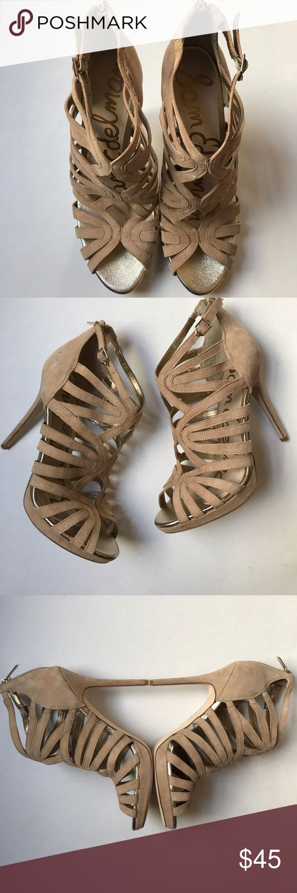 NWOT Sam Edelman Eve Caged Sandals NWOT Sam Edelman Eve Caged Sandals. No box. 5.5 inch total heel height. .5 inch platform. Suede upper. Bootie style Sandal with back zip closure. Sam Edelman Shoes Sandals