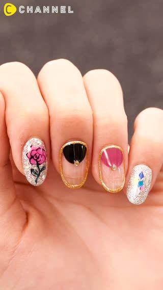 指先だけでもゴージャスな雰囲気に♡色っぽく艶やかな薔薇ネイルをご紹介します!