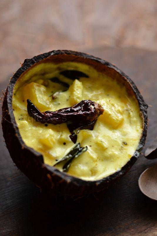 Pineapple Kichadi | Pineapple in Coconut and Yogurt Sauce| Onam Sadhya Recipe | kurryleaves
