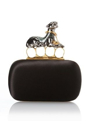 50% OFF ALEXANDER MCQUEEN Women's New Pantera Clutch, Black