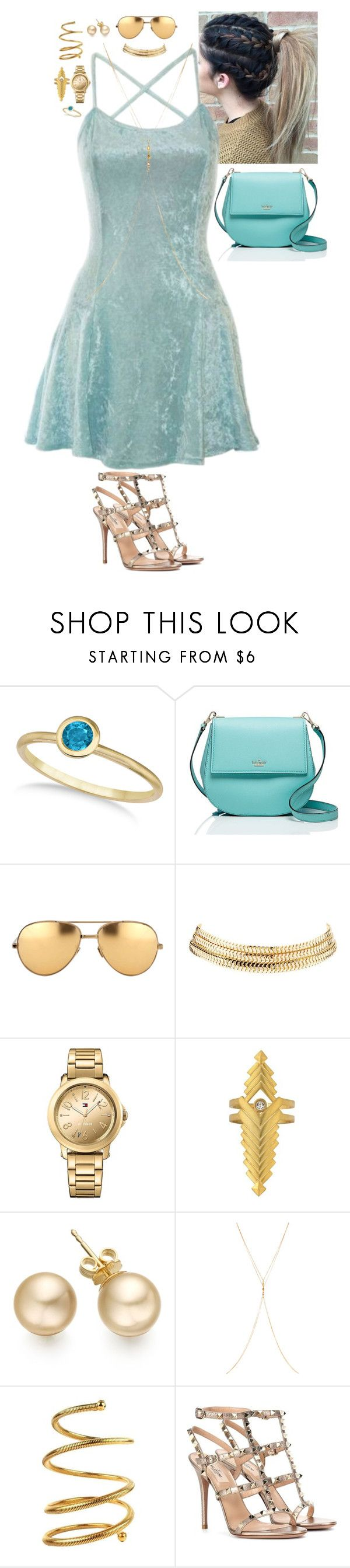 """Rebel Royal - Cocktails by Cody"" by stinze on Polyvore featuring Allurez, Kate Spade, Linda Farrow, Charlotte Russe, Tommy Hilfiger, Chan Luu, Chanel and Valentino"