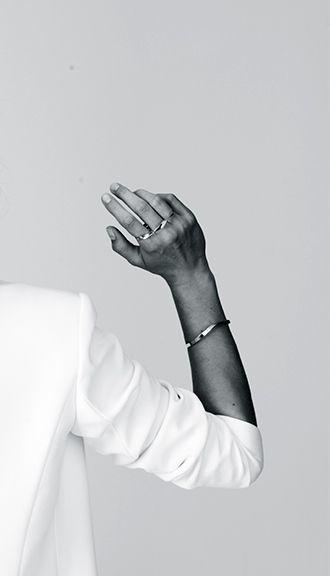 white blazer & simple jewelry #style #fashion