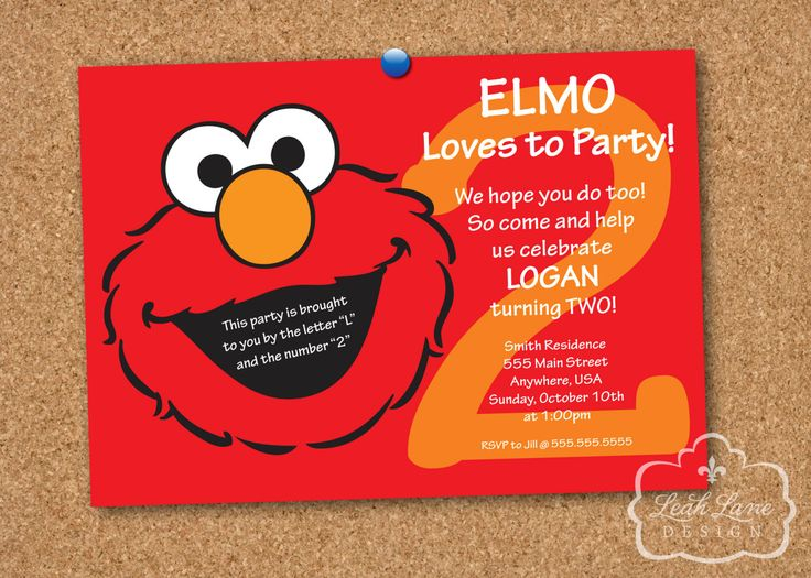 best 25+ elmo sesame street ideas on pinterest | sesame street, Birthday invitations