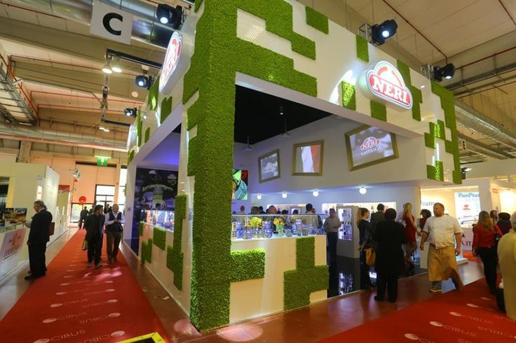 LinfaDecor  #Green #Design project: Neri Sottoli's Stand from Cibus #exhibition of Parma - #plants #greenwall #setup #setting