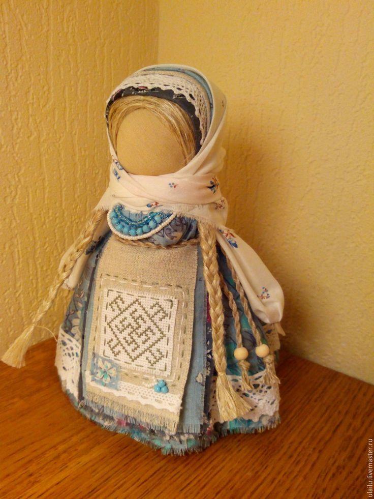 """Купить Кукла-оберег """"Цветок Папоротника"""" - голубой, оберег, кукла ручной работы, кукла в подарок"""