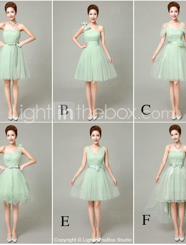 robes de demoiselle d'honneur 6 modèles tulle