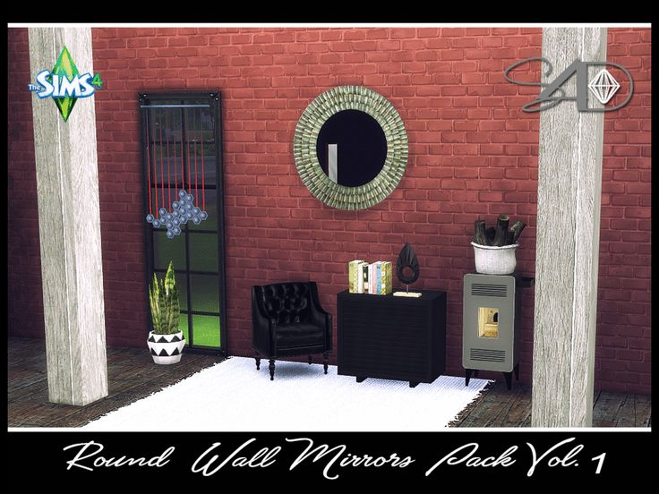 Round Wall Mirror Pack Vol.1 - Sims 4 Designs