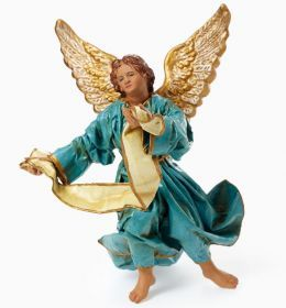 Angel in Papier-mache Made entirely by hand in Lecce's papier-mâché, with head, hands and feet in earthenware according to the classic tradition of Lecce. #madeinitaly #artigianato