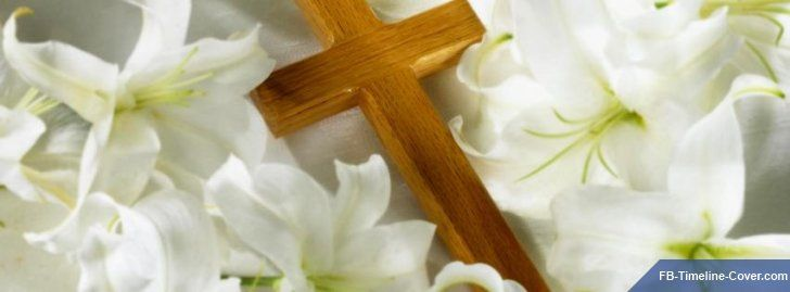Click to Download Cross White Easter Lily Religion Facebook Timeline Cover