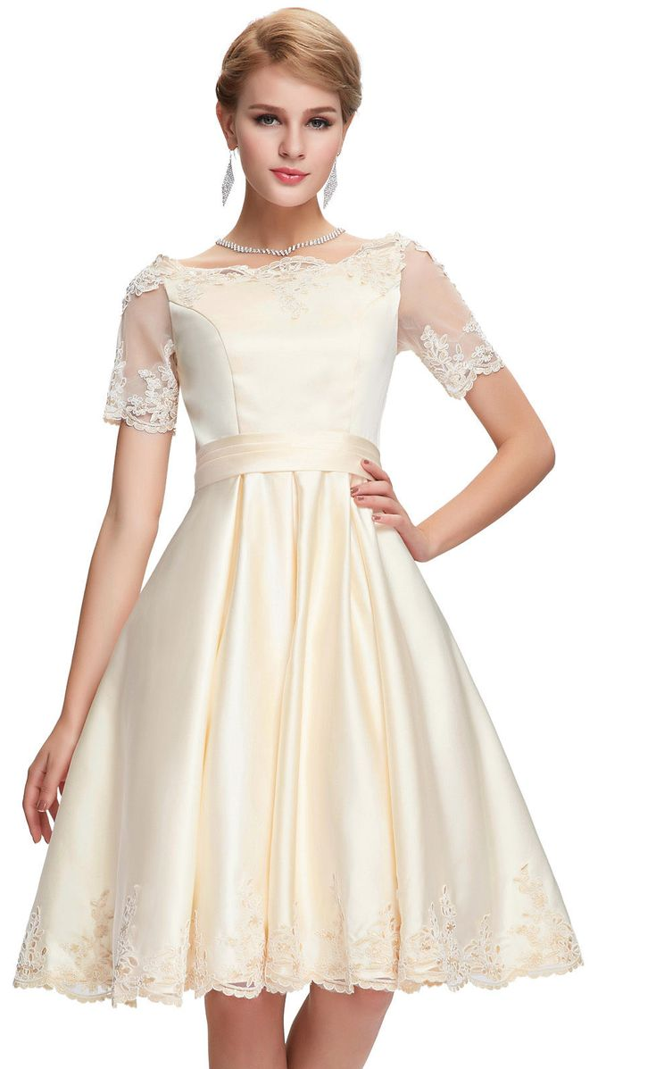 Champagne cocktail prom dress