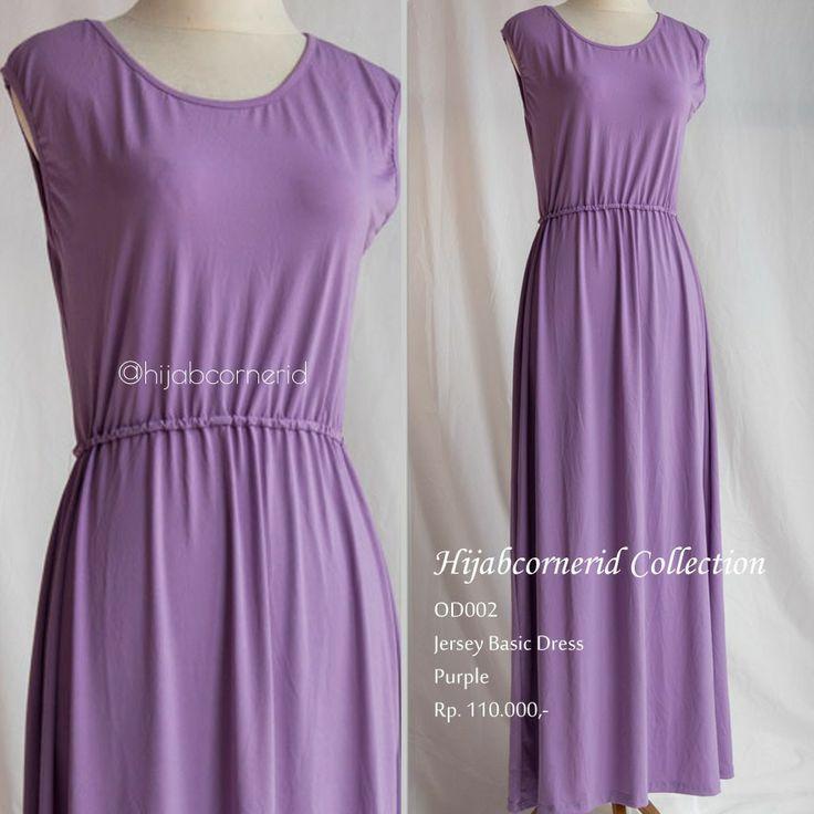 Pastel color of basic dress. Find it at http://hijabcornerid.com
