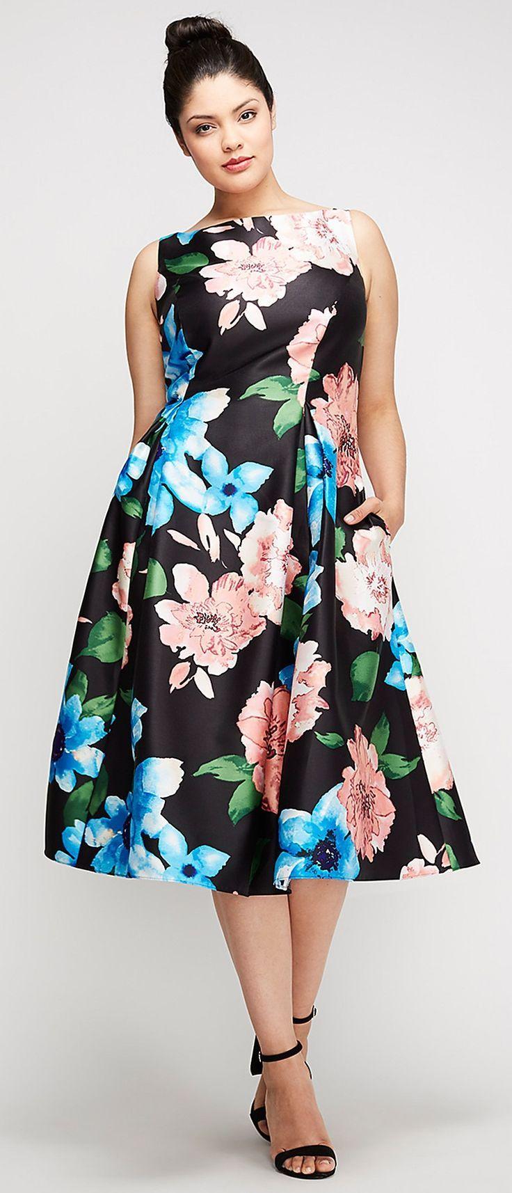 Plus Size Tea Length Dress