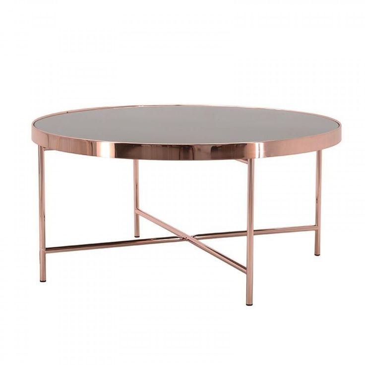 Τραπέζι Γυάλινο Μεταλλικό Μαύρο Χρυσό 82x40cm