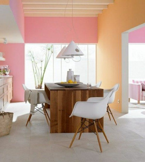 farbgestaltung kche wandfarben ideen aprikose frei wohnzimmer wandfarben pastellfarbene wnde haus innenrume tropisch - Farbgestaltung Innenrume Beispiele