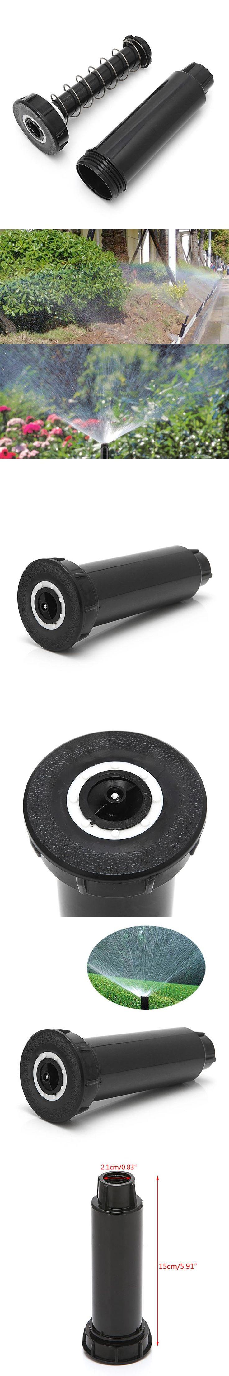 "New 1/2"" Adjustable Plastic Pop up Sprinklers 25-360 degree Lawn Irrigation Watering"