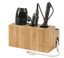 Tame your hair and tame your countertop with the Countertop Rattan Hair Styling Station.