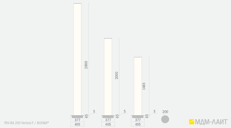 Напольные светильники TRU-BA 200 Vertical F 173 - 333 Вт – купить в Москве и…