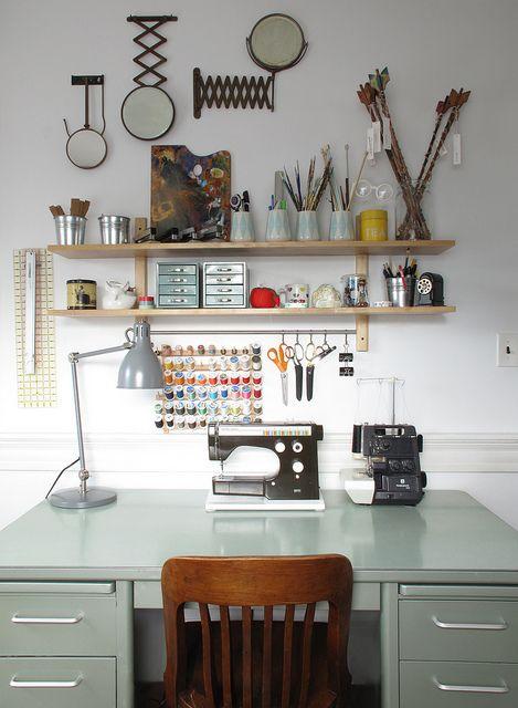 amazingly organized craft desk