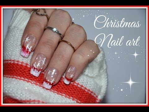 NAIL ART NATALIZIA #1 - CHRISTMAS NAIL ART - YouTube