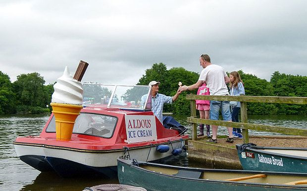 Ice cream on the Norfolk Broads