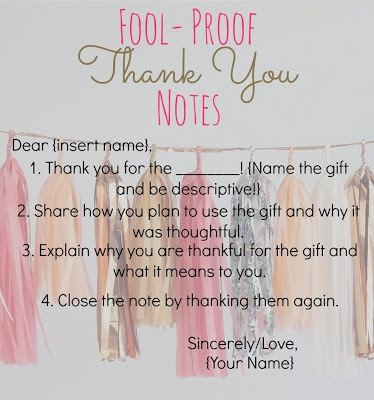Tips for writing thank you notes! Taking the time to send a handwritten thank you note speaks volumes.